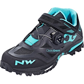 Northwave Enduro Mid Shoes Men black/aqua